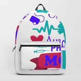 Proud Mom Of An Awesome Nurse - Nurse Design Backpack