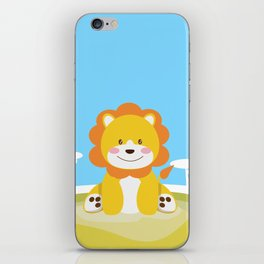 Lion in the savannah iPhone Skin