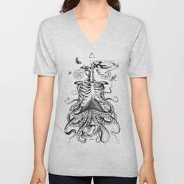 Engraving - Chimera_01 Unisex V-Neck