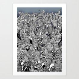Birds of a feather .. Art Print