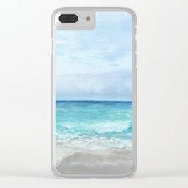 Peaceful Ocean Clear iPhone Case