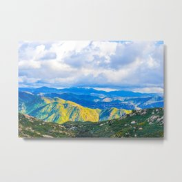 The Light in the Valley Metal Print