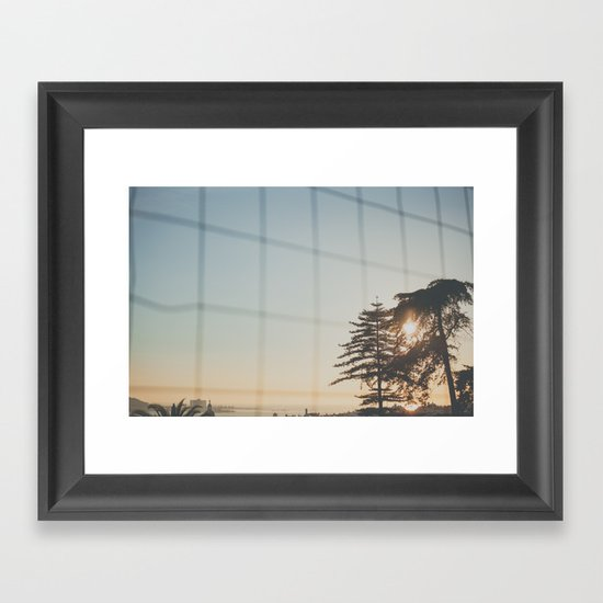 A fall afternoon Framed Art Print
