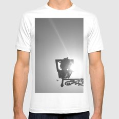 To Go Free (2) MEDIUM White Mens Fitted Tee