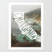 california Art Prints featuring California by cabin supply co
