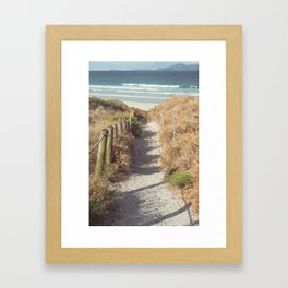 Pathway to Mangawhai Heads Beach Framed Art Print