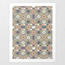 Bohemian Floral Pattern Art Print