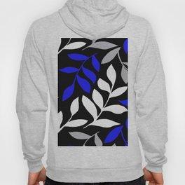 BLUE Palm leaf Black Palm leaf  Gray leaf Pattern Hoody