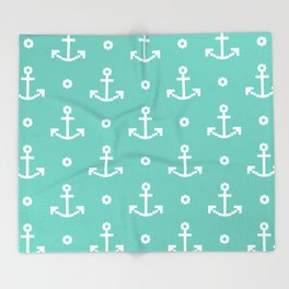 PIXELATED // Anchor Throw Blanket