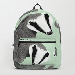 Adorable Badger ( Meles meles ) Backpack