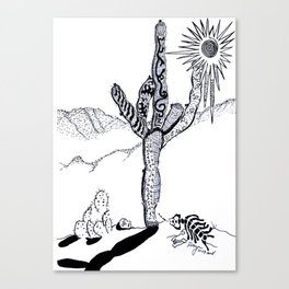 sCoRcHeD ink tAsH Canvas Print