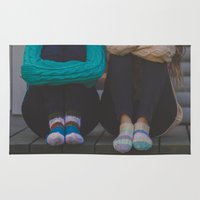 socks Area & Throw Rugs featuring wool socks. by lissalaine