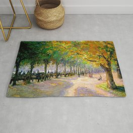Hyde Park London 1890 By Camille Pissarro   Reproduction   Impressionism Painter Rug