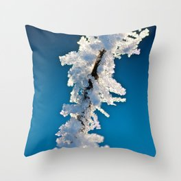 Iced Twig Throw Pillow