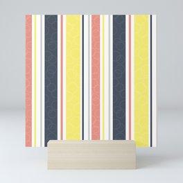 Circles and stripes pattern Mini Art Print