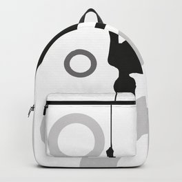 Trapeze Rings black and white Backpack