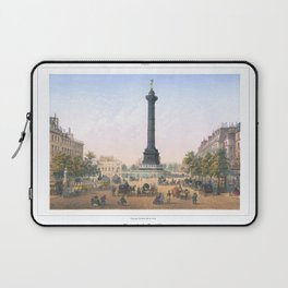Paris art print Paris Decor office decoration vintage decor PLACE BASTILLE of Paris Laptop Sleeve