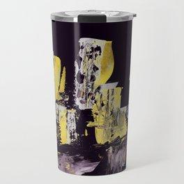 Yellow Purple Cityscape Travel Mug