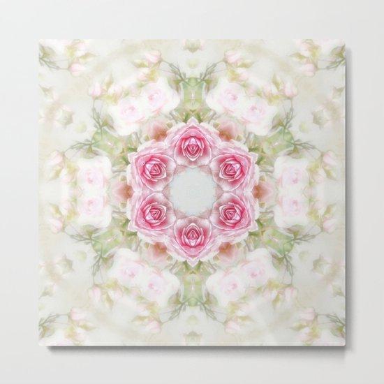 romantic rose (pattern/pillow) Metal Print