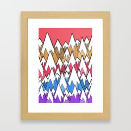 Mountains of colour Framed Art Print