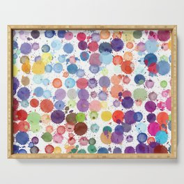 Watercolor Drops Serving Tray