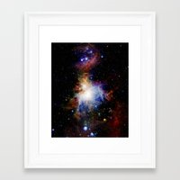 nebula Framed Art Prints featuring Orion NebulA Colorful Full Image by 2sweet4words Designs