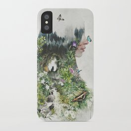 Cat in the Garden of Your Mind iPhone Case