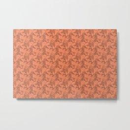 Geometrical Triangle Patterns 2 Fringe Orange, Orange Slice, Fiery Sky Orange, Heirloom Tomato Metal Print