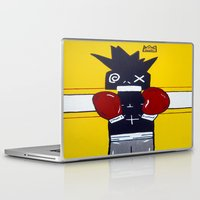 basquiat Laptop & iPad Skins featuring Boxer Basquiat by TheArtGoon