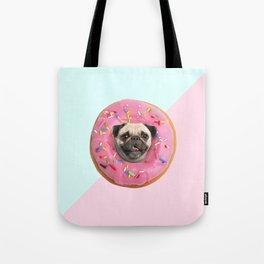 Pug Strawberry Donut Tote Bag