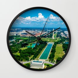 DC from Above Wall Clock