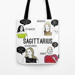Sagittarius- Bravostrology Series Tote Bag