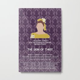 The Sign of Three - Molly Hooper Metal Print