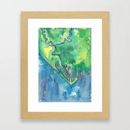 Swan Creek Framed Art Print