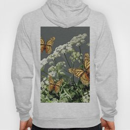 """CREAM COLORED BUTTERFLIES """"SPRING SONG"""" LACE FLOWERS Hoody"""