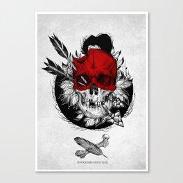 Arrow to the head Canvas Print