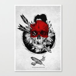 Arrow to the head Canvas Print