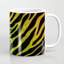 Ripped SpaceTime Stripes - Orange/Lime Coffee Mug
