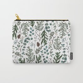 Pine and Eucalyptus Greenery Carry-All Pouch