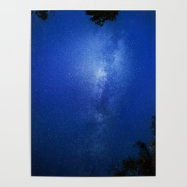 Looking up into the milkyway galaxy Poster
