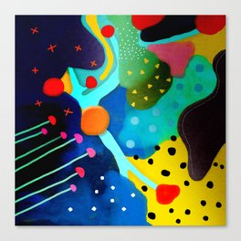 Abstract Art - Lagoon mushrooms rupydetequila amazonia dots cheetah Canvas Print