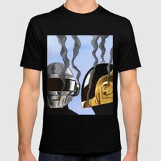 Daft Punk Deux SMALL Black Mens Fitted Tee