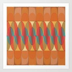 Wavy color stripe Art Print