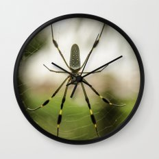 Autumn Spider Wall Clock