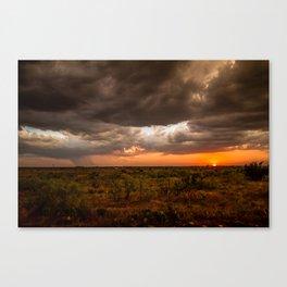 West Texas Sunset - Colorful Landscape After Storms Canvas Print