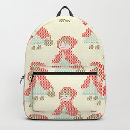 Red Riding Hood Cross Stitch Pattern on yellow Backpack