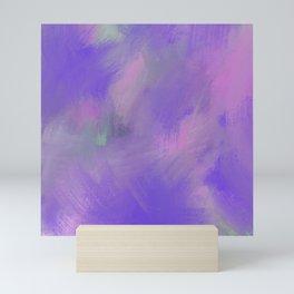 Hand painted pink violet lavender watercolor brushstrokes Mini Art Print