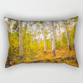 Aspen Trees filled with Fall Foliage Rectangular Pillow