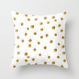 Busy buzzy bees Throw Pillow