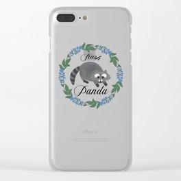 Trash Panda Clear iPhone Case
